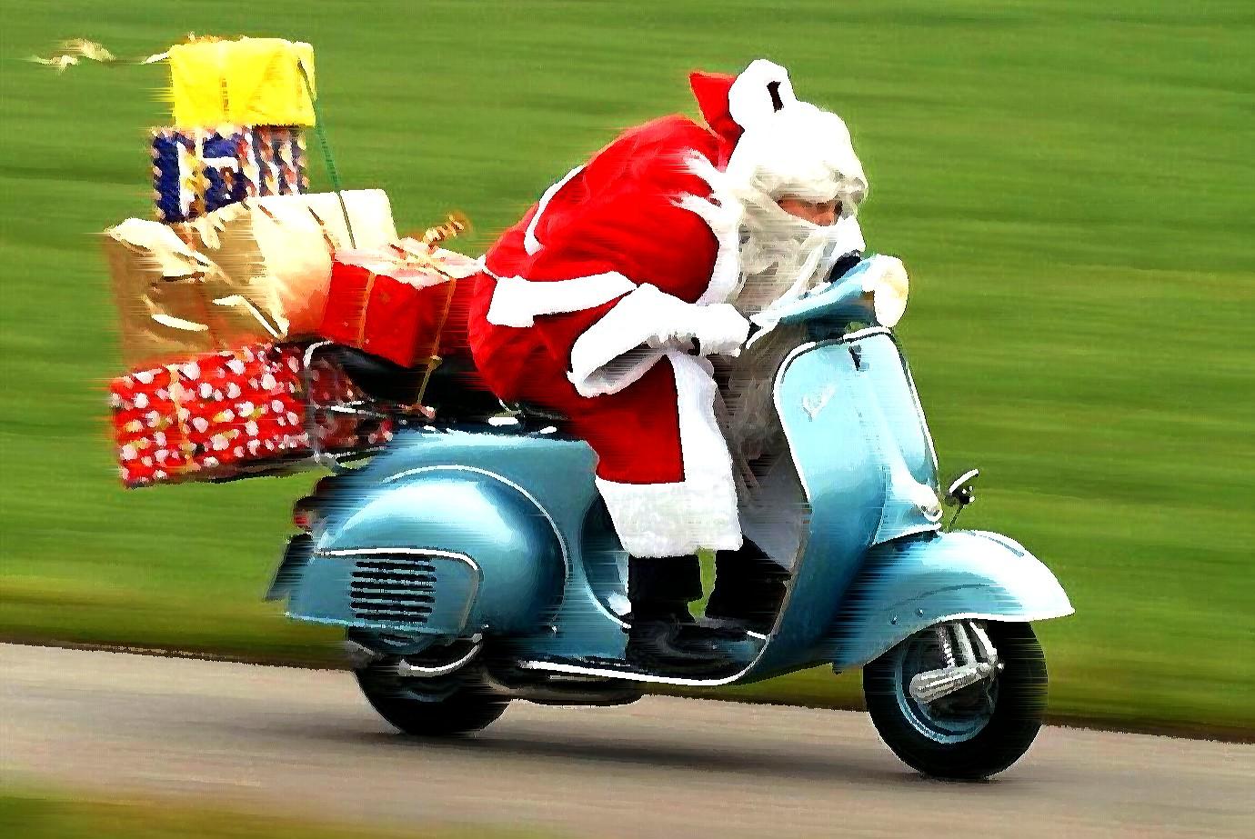 santa scooter