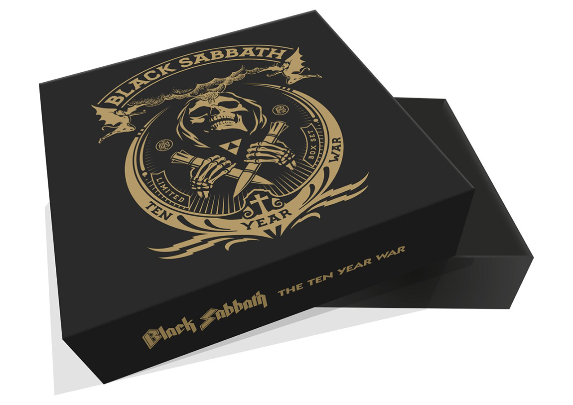Gold on black box