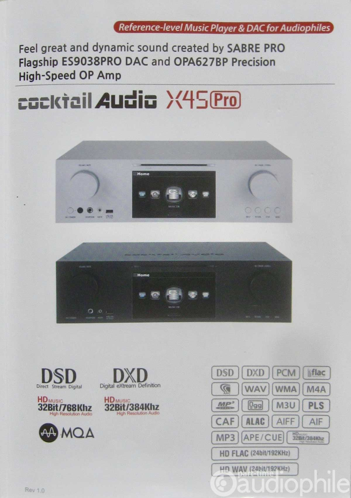 Cocktail Audio X45 Pro Music Player/DAC | Review | Part-Time